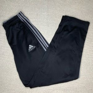 Adidas Men's Sweatpants Black with White Stripes